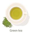 green tea icon cartoon style vector image vector image