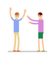 greeting people man and woman standing and vector image