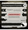 Grunge Design Elements For Documentation Set2 vector image