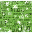 grunge green background for Patricks day vector image vector image