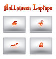 halloween laptops vector image