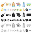 happy and attribute cartoon icons in set vector image vector image