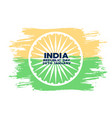 happy indian republic day abstract flag vector image