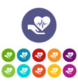 health protection icons set color vector image