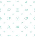heart icons pattern seamless white background vector image vector image
