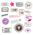 hipster party stamps vector image vector image