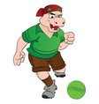 humanoid hippo playing soccer vector image vector image