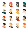 Isometric Colored User Icon Designs vector image vector image