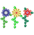 jewelry colorful flowers from precious gems vector image vector image