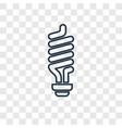 light bulb concept linear icon isolated on vector image