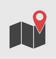 location icon flat vector image vector image