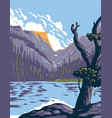 loch lake in rocky mountain national park within vector image
