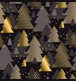 luxury minimal christmas tree seamless pattern vector image