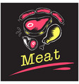 meat pork beef chicken sausage background i vector image