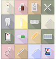 medical flat icons 18 vector image vector image