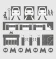 metro underground symbols vector image