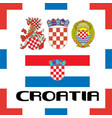 official government ensigns of croatia vector image