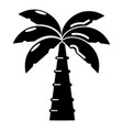palm icon simple black style vector image vector image