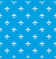 plane pattern seamless blue vector image vector image