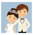 princely style couple foreground on blue vector image vector image