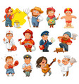professions isolated on white background vector image vector image