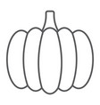 pumpkin thin line icon vegetable and food vector image vector image