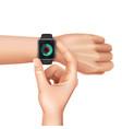 realistic smart watch vector image