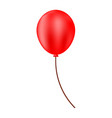Red helium balloon festive balloon
