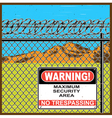 restricted area old poster vector image vector image