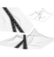 road highway in 3d view from above and in vector image vector image