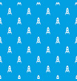 rocket pattern seamless blue vector image