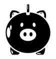 safe money icon simple black style vector image