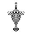 scandinavian tattoo 0011 vector image vector image