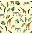 seamless pattern background with adult animals vector image vector image