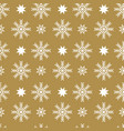 seamless pattern with snowflakes and stars vector image vector image