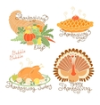 set color drawings to thanksgiving day autumn vector image vector image