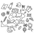 set of back to the school icons vector image