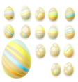 Set of easter eggs EPS 10 vector image