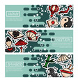 set of horizontal banners about japan vector image vector image