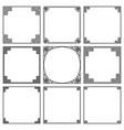 set square frames old greek ornament vector image vector image