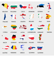 simple color flags all european union countries vector image vector image