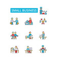 small business thin line icons vector image vector image