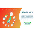 stomatology concept banner isometric style vector image
