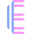 trendy font alphabet from paper tape letter vector image
