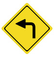turn left on white background turn left symbol vector image vector image