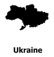 ukraine map icon simple style vector image vector image