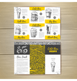 Vintage cold beer menu design vector image