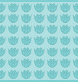 vintage water lilies on turquoise seamless vector image vector image
