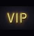 vip neon sign elegant premium members club vector image
