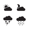 weather icons concept for design vector image